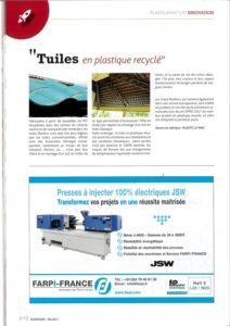 publicité JSW Plastilien mai 2017